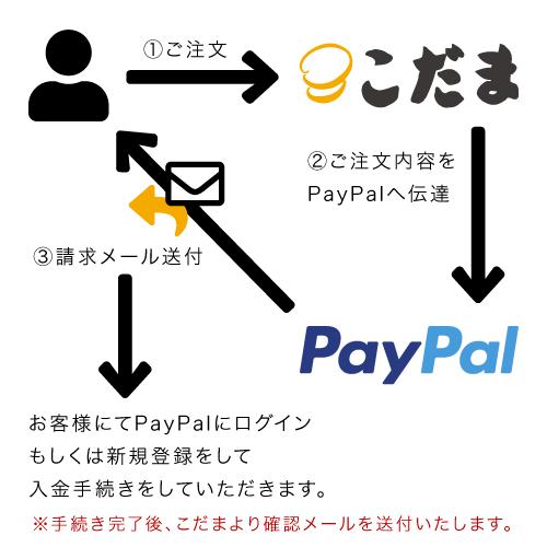 Paypalによるお支払いの流れ